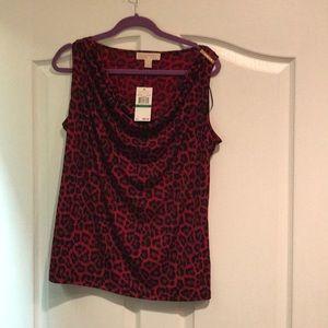 Red leopard shirt